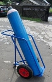 Hospital medical gas cylinder trolley